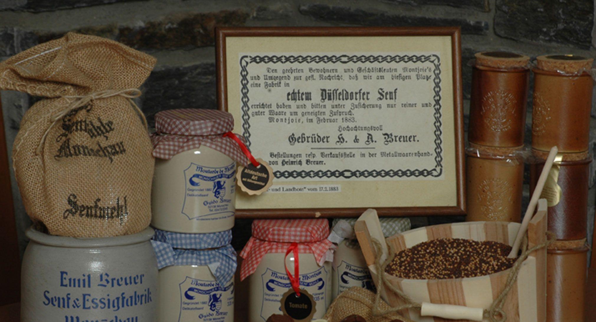 Unsere Senfsorten - Historische Senfmühle Monschau